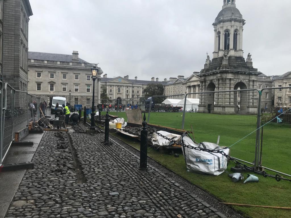Trinity College Dublin –Cobble Paving Renovation